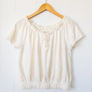 Madewell Texture & Thread Drawstring Top